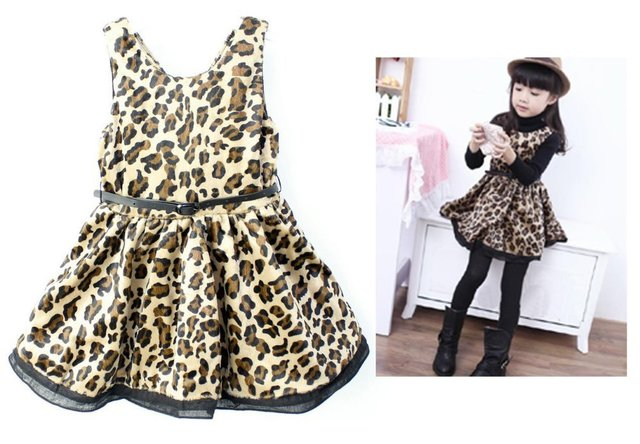 751664ded NWT Holiday Gorgeous Cheetah Leopard Baby Dress Toddler Girl Spring/Autumn  Princess Dresses Size 2A-8A