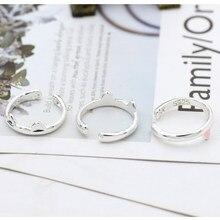 Adorável gato anel esmalte preto rosa gatos orelhas feminino abertura anéis animal jóias para as meninas presentes dropshipping anel