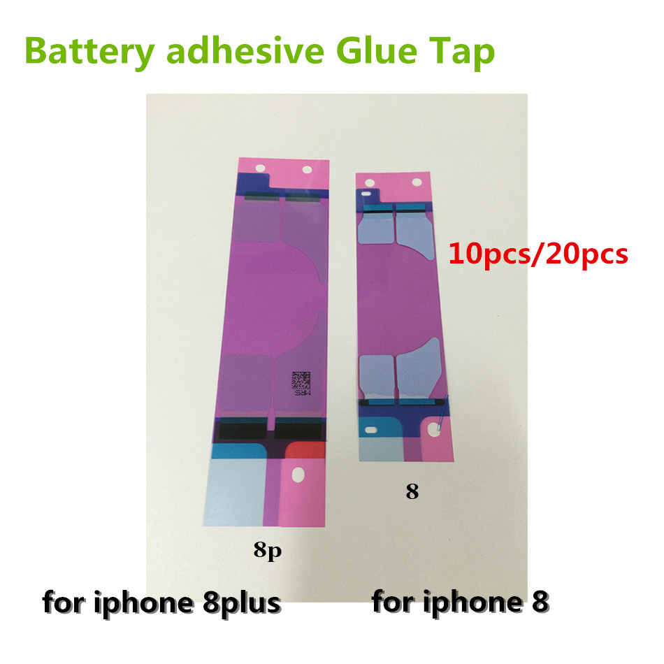 10PCS/lot or 20PCS/lot Battery Sticker Adhesive Pull Strip Tab Glue For iPhone 8 8 Plus 8Plus Replacement Repair Parts Glue