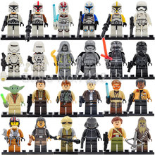 Single Sale Clone Trooper Yoda Luke Obi Wan Kenobi Figure Star Wars Building Blocks Sets Model Bricks Toys