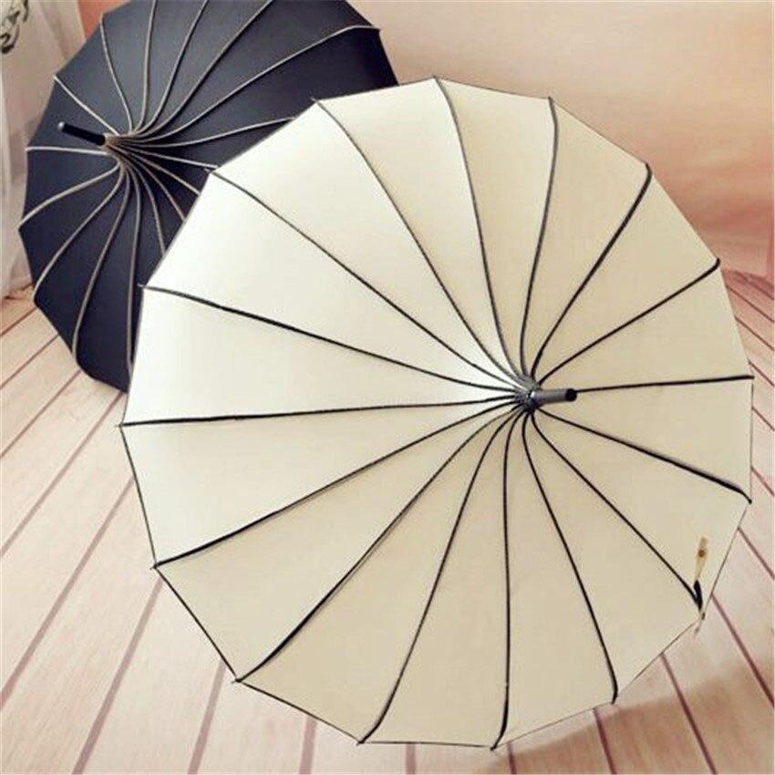 10PC New pagoda umbrellas Fashionable sunny and rainy umbrella 6 colors available outdoor umbrella light fixture 16 pcs ribs