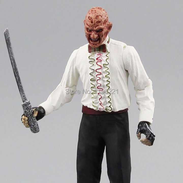 Free shipping NECA  Les griffes de la nuit Killer  Freddy VS Jason  Good quality 01 paris la nuit