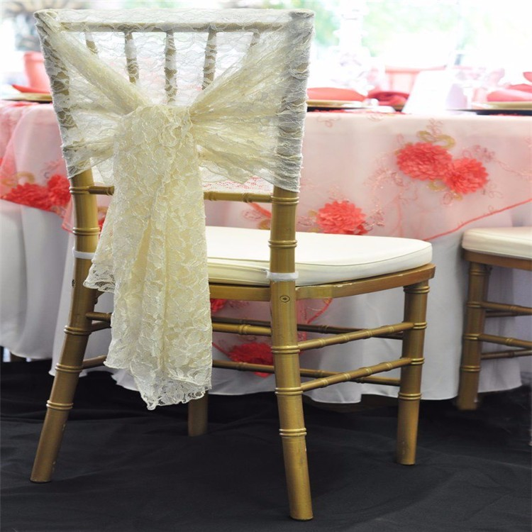 100pcs Ivory Chair Hood& Lace chair sash for banquet, wedding, hotel, home FREE SHIPPING Marious fit for any style chair