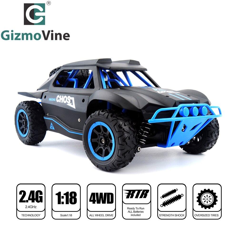GizmoVine télécommande courte voiture 1/18 camion 4WD 25 KM/H haute vitesse dérive RC voiture Course courte camion jouet pour enfants cadeau