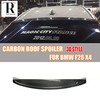 F26 X4 3D Style Carbon Fiber Rear Roof Window Spoiler for BMW F26 X4 2014 2018 Auto Racing Car Styling Rear Roof Lip Spoiler