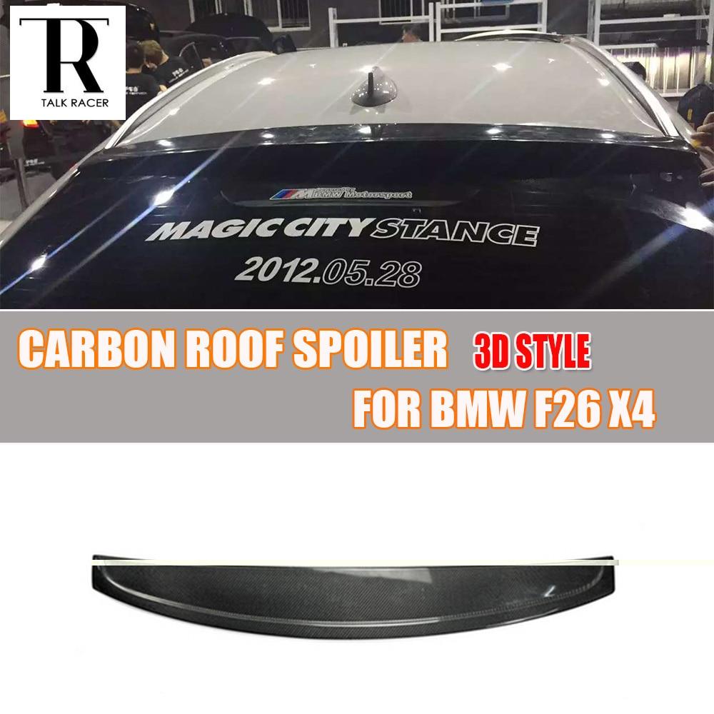 F26 X4 3D styl Carbon Fiber Zadní střešní okno Spoiler pro BMW F26 X4 2014 - 2018 Auto Racing Car Styling Zadní střešní spoiler na rty