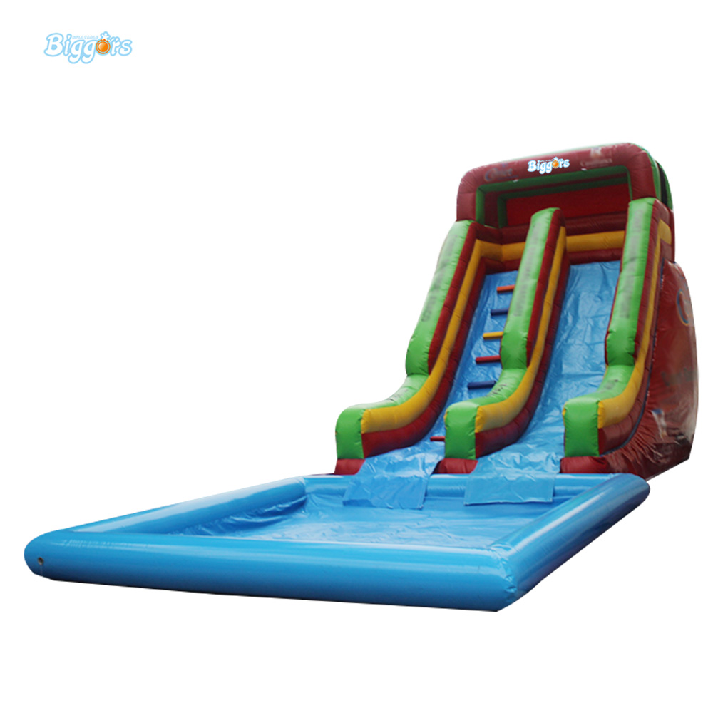 Outdoor Commercial Grade Inflatable Summer Backyard Water Game Inflatable Pool Water Slide For Amusement Park 2017 popular inflatable water slide and pool for kids and adults
