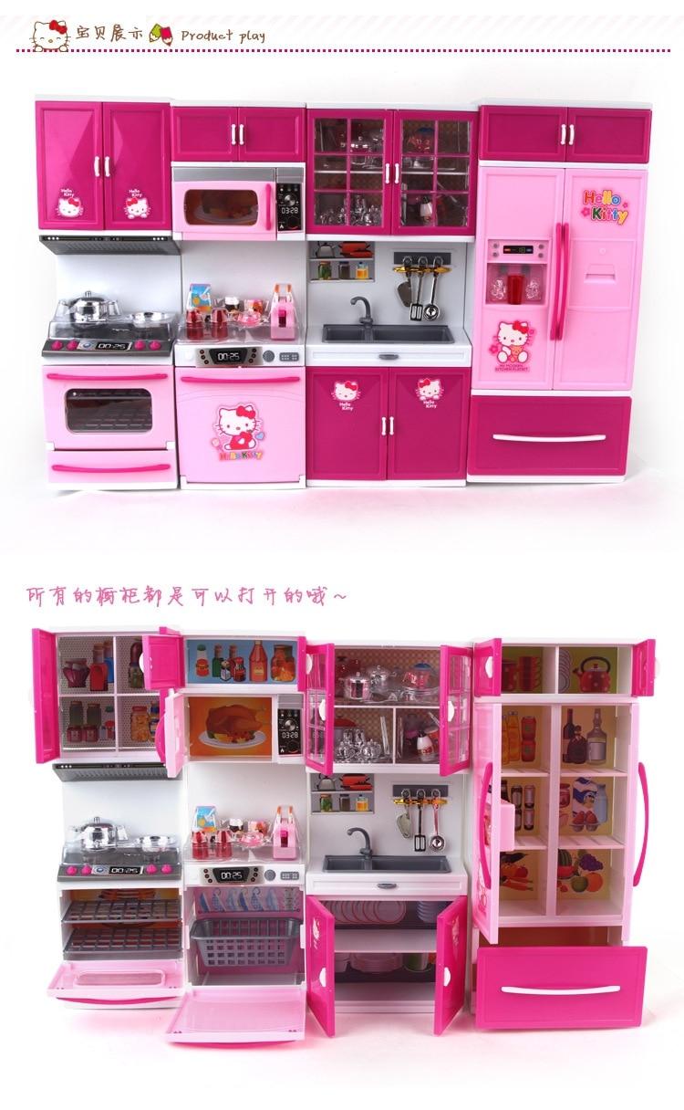 Kawaii Hello Kitty Gadis Anak Anak Multifungsi Mainan Kitchen Set