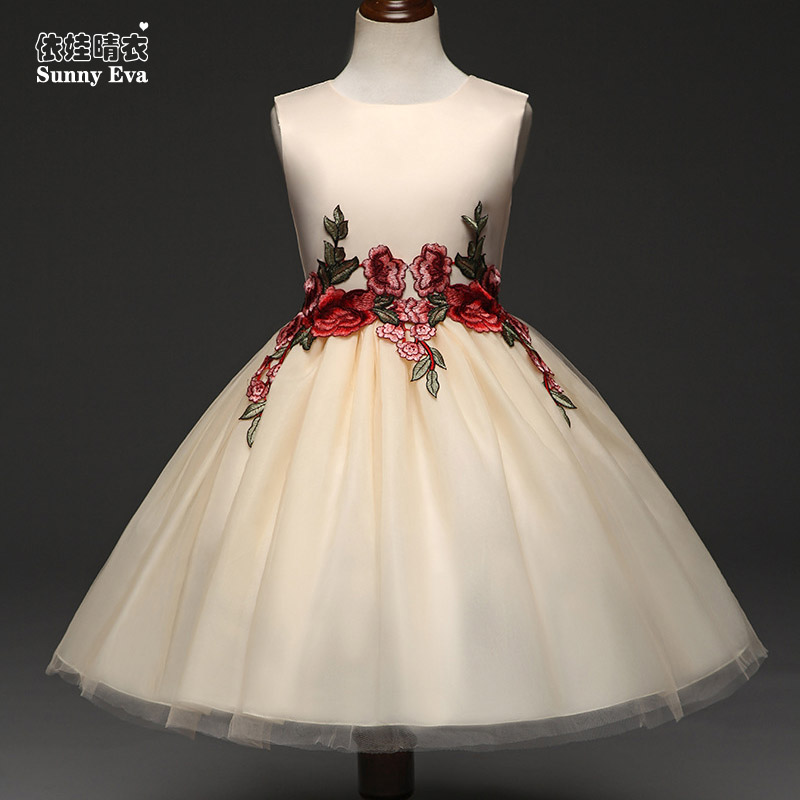 Sunny eva summer girl dress Princess tutu wedding dress for children fashionable princess dress for party girl clothes children платья eva платье