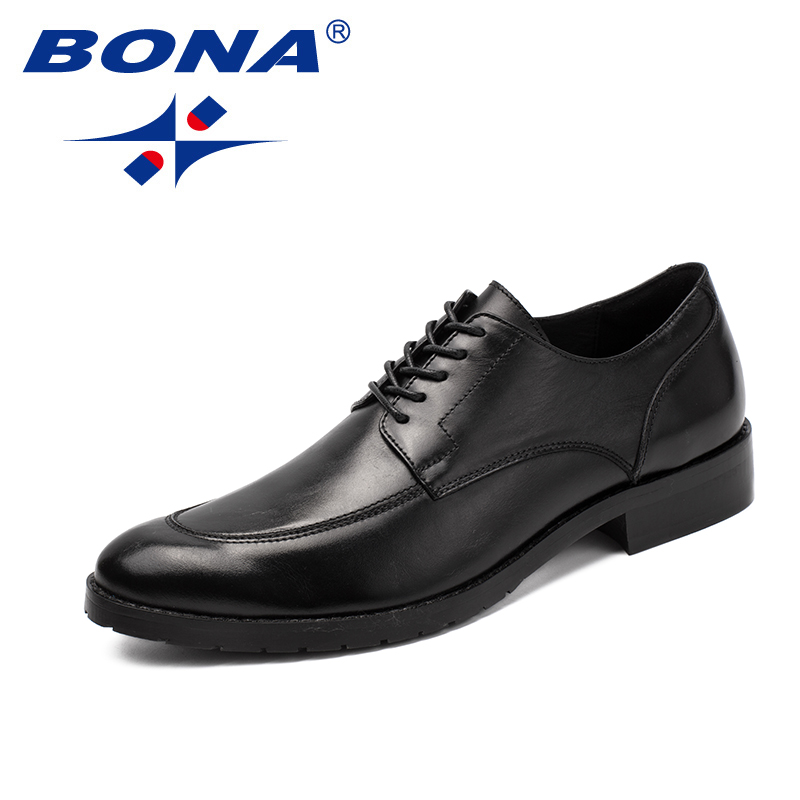 BONA New Classics Style Men Formal Shoes Genuine Leather Low Leather Men Office Shoes Round Toe Men Dress Shoes Free Shipping free shipping dhl brand new cow leather clothing man s 100% genuine leather jackets classics men s slim japan style jacket