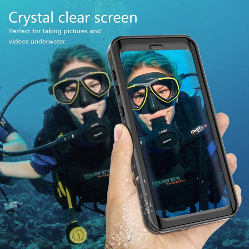 Seonstai Waterproof Case for Samsung Galaxy S9 S9 plus Underwater Swimming Diving Coque