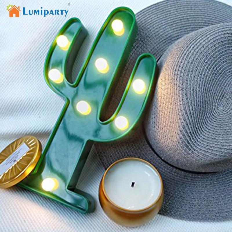 Adeeing 3D Söt Kaktus Ljuslampa LED Dekorativ Baby Nattlampa Dim - Nattlampor - Foto 1