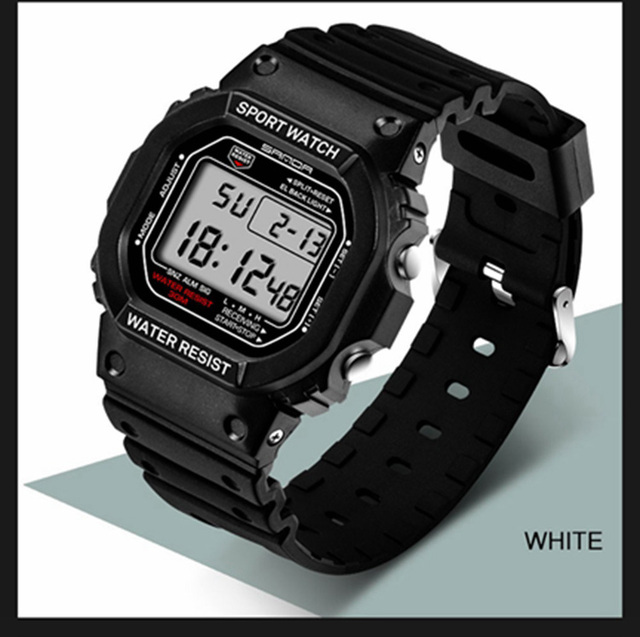 SANDA Profissional de Moda dos homens Relógio Esportivo Militar Relógios Das Mulheres Dos Homens À Prova D' Água Choque Retro Quartzo Analógico Relógios Digitais