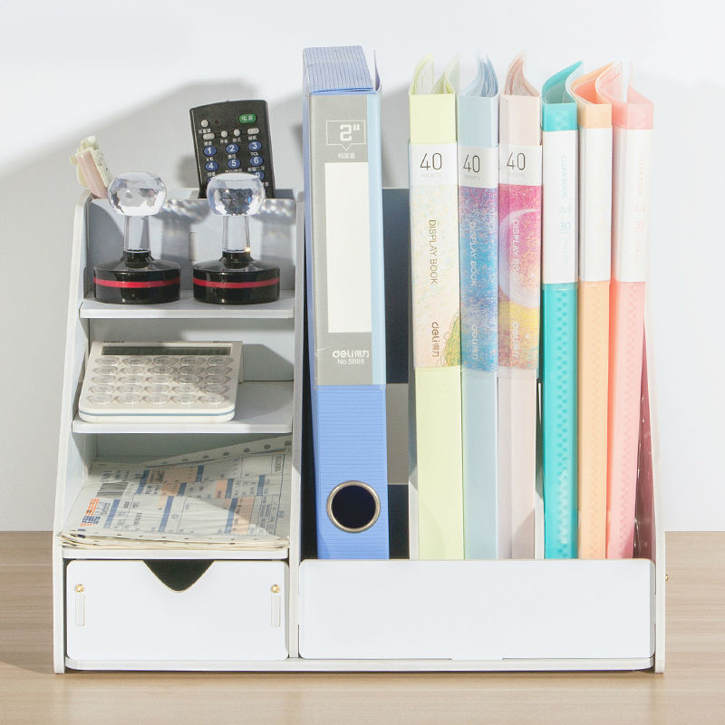 Magazine Organizers Desk Organizer Book Holder Desk Stationery Plastic Storage Organizer Holder Stand Shelf Rack free shipping 10pcs an6306s
