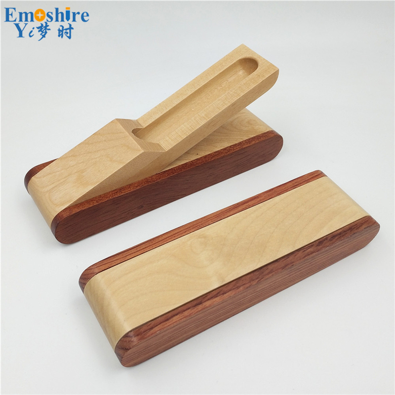 Emoshire Factory direct sales mahogany pieces of wood signature pen suits wooden pen box creative gift customization (16)
