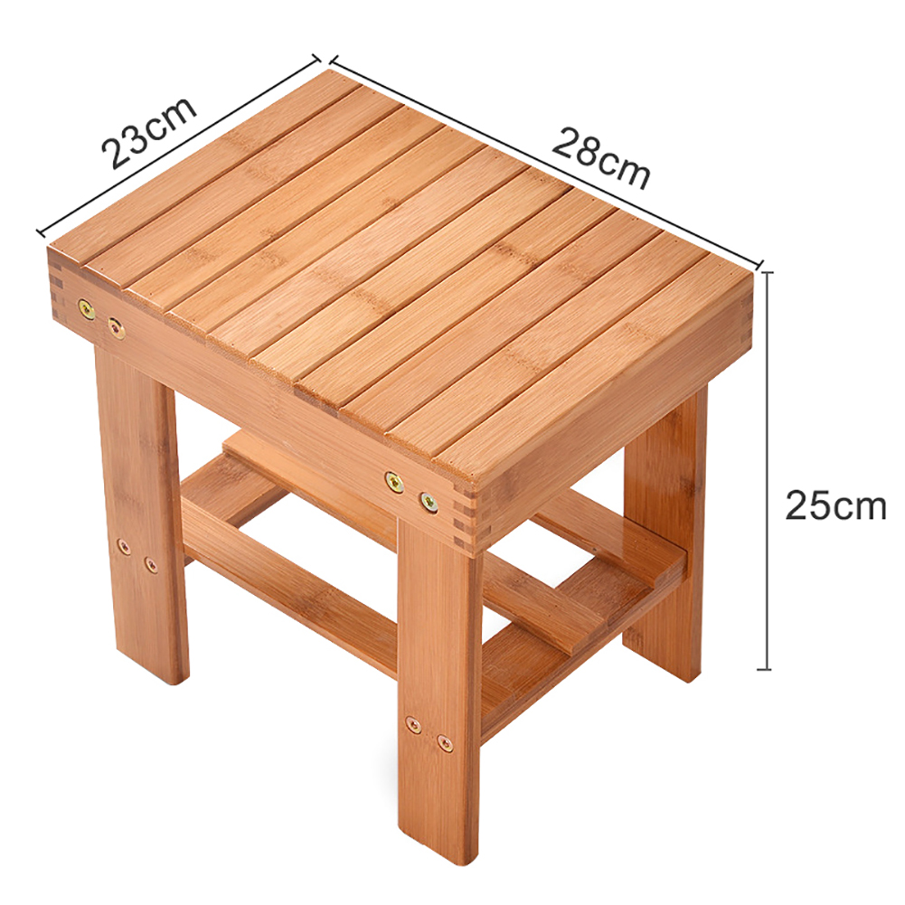 Small Stool Chair Portable Square Wooden Children Kids Small Stool Home Seat Stepping Chair Bench Set