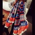 2016 женщина шарф шеи дамы мыс богемный платок хлопка шарф женский платок femme платки хлопка палантин этнических упаковка Скидка