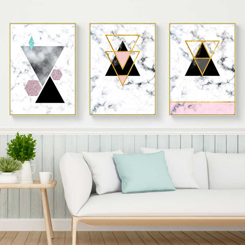 Geometric Designs Posters And Prints Wall Art Canvas Painting Modern Metal  Wall Pictures For Living Room Decoracion Marvel Decor