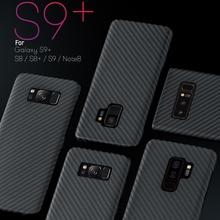 En Fiber De Carbone De luxe étui pour samsung Galaxy S10 Plus S8 S9 Plus Note 8 Note 9 Mat Aramide Fiber De Couverture de Téléphone Ultra Mince
