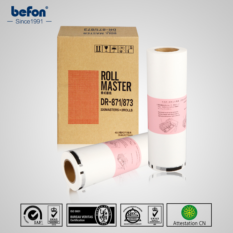 befon DR870  DR871 DR873 Master Roll for DUPLO DP23S 23F 24F 43S Master 100M B4 2 rolls/box