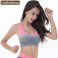 Women's Padded  Bras Shock Absorption Seamless Vest Bralettes Movement Underwear Crop Tops Fitness Brassiere S592