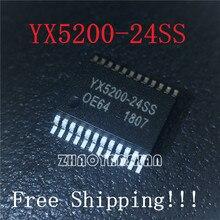 10 шт. X YX5200-24SS серийный mp3 пятна Функция MP3 программы могут быть связаны с U диск TF карта SD карта чип YX520024SS IC YX5200