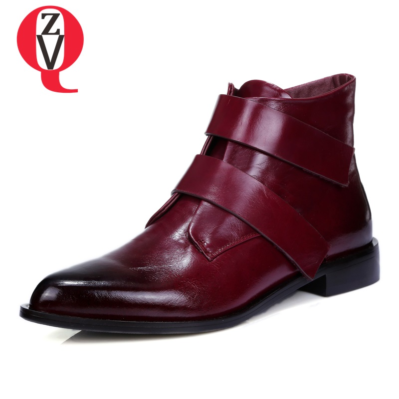 Hot Sale Zvq Women Fashion Booties Good Quality Genuine Leather