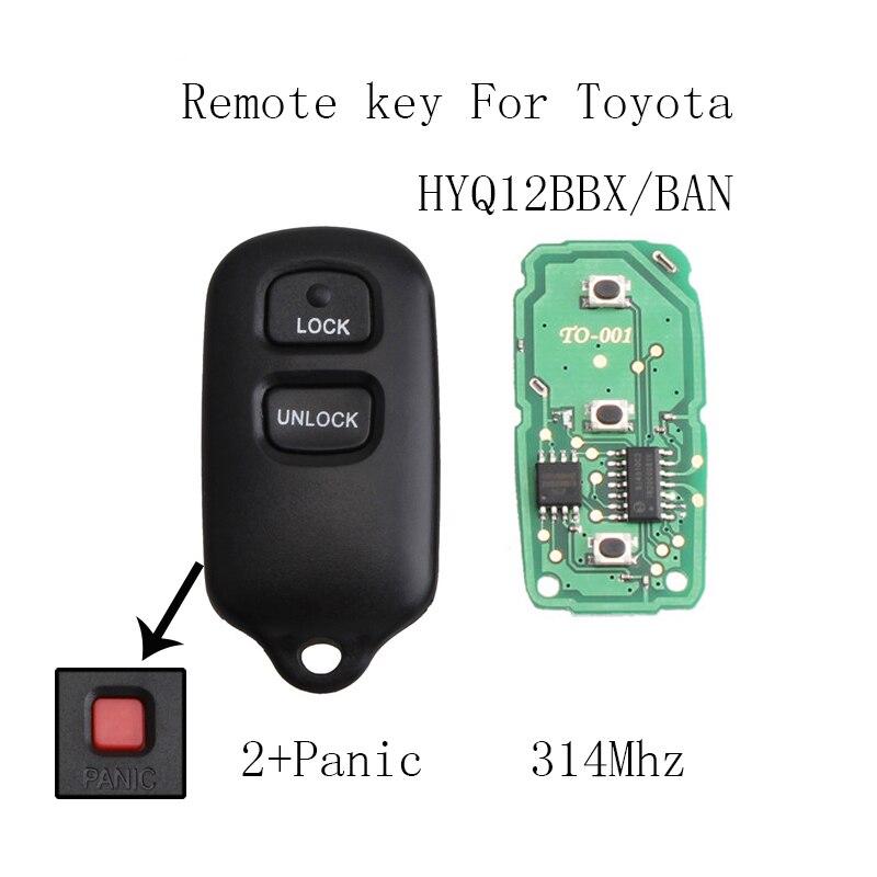 все цены на 2+1 Buttons Remote Car Key DIY For Toyota Highlander 2001 2002 2003 2004 2005 2006 2007 HYQ12BBX Original keys