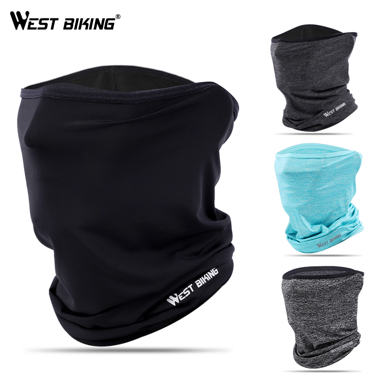 WEST BIKING Summer Anti-sweat Cycling Face Mask Breathable Headwear Cycling Caps Running Bicycle Bandana Sports Scarf Face Mask