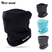 WEST BIKING Summer Anti sweat Cycling Face Mask Breathable Headwear Cycling Caps Running Bicycle Bandana Sports Scarf Face Mask|Cycling Face Mask| |  -