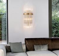 crystal minimalist glass crystal wall bedside lamp bedroom living room lamps warm aisle corridor lamp creative restaurant ZH|wall bedside lamp|corridor lamp|crystal wall -
