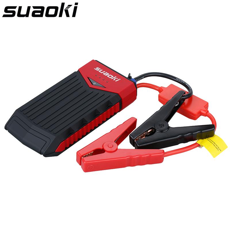 Prix pour Suaoki T10 400 Pic 12000 mAh Portable Démarreur de Saut De Voiture Batterie Jumper Booster avec Double USB De Charge Port UE PLUG