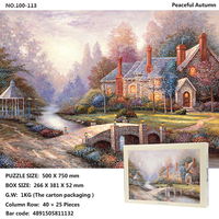 Boys and girls knowledge power toys 1000/4000 adult super big puzzle painting creative game household hangs a picture