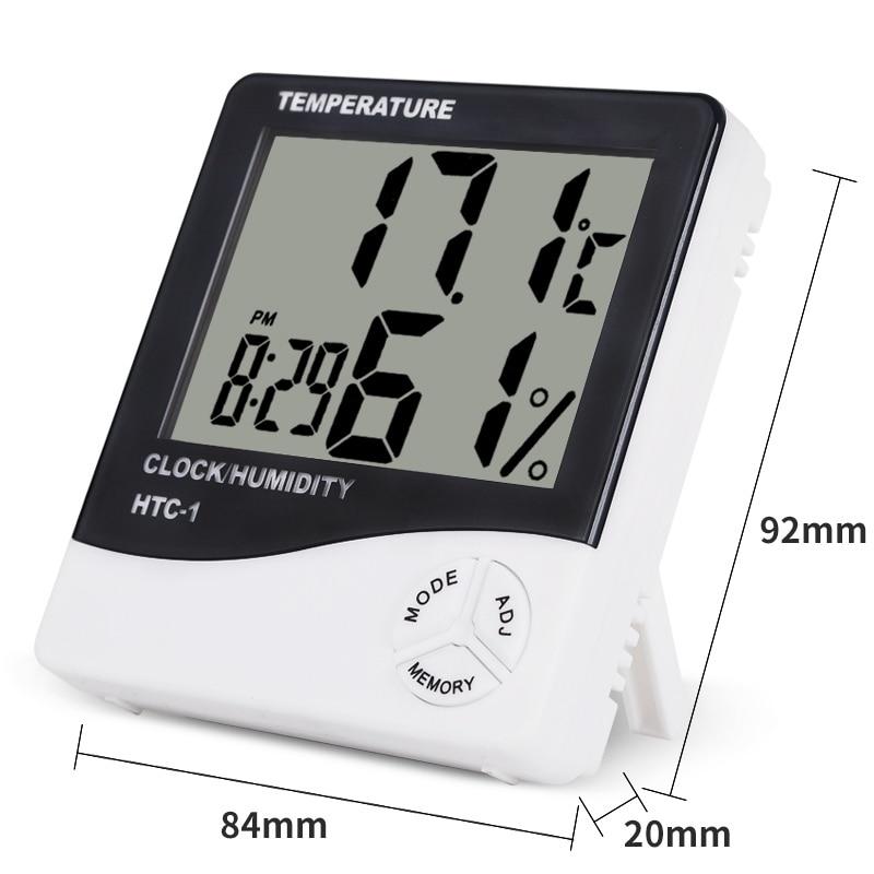 HTC-1 Salle intérieure LCD Thermomètre électronique numérique - Instruments de mesure - Photo 3