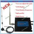 Mais novo 2G 3G reforço de Sinal de LCD! GSM 900 3G 2100 Telefone Móvel Impulsionador Amplificador 3G GSM Repetidor + antena
