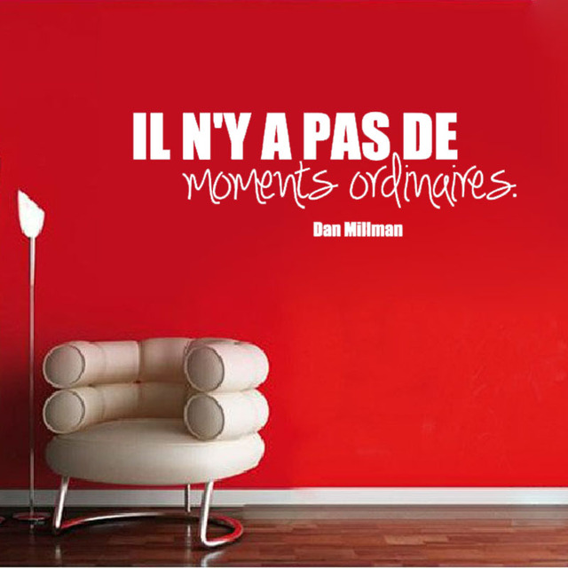 DCTOP Nessun Tempo Ordinario Quote Wall Sticker Frase Francese ...