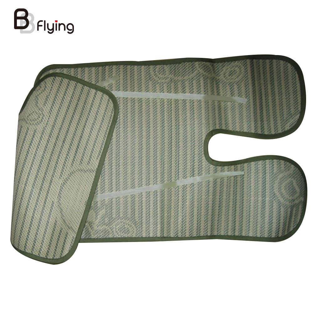 Flax Baby Stroller Mat Cool Mat Seat Pad For Baby Carriage Keep Cool Fashion