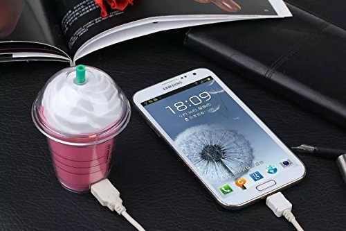 Bonito 5200 mah banco do poder carregador de bateria de backup externo portátil presente de aniversário starbucks universal para telefones móveis para iphone