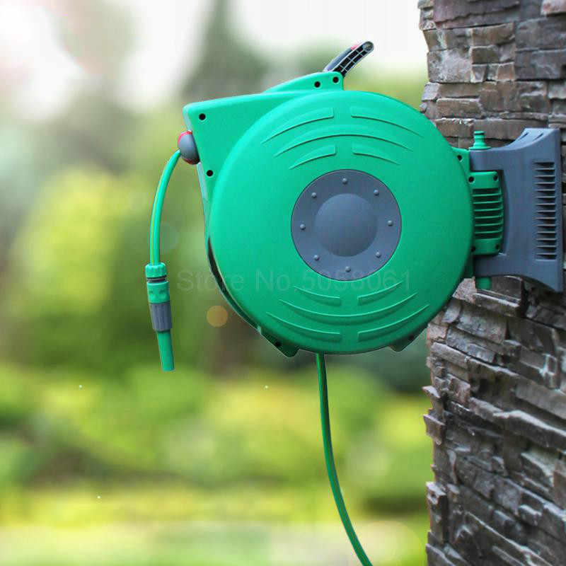 Gardening Wall Mounted Hose Car 20 Meters Automatic Retractable