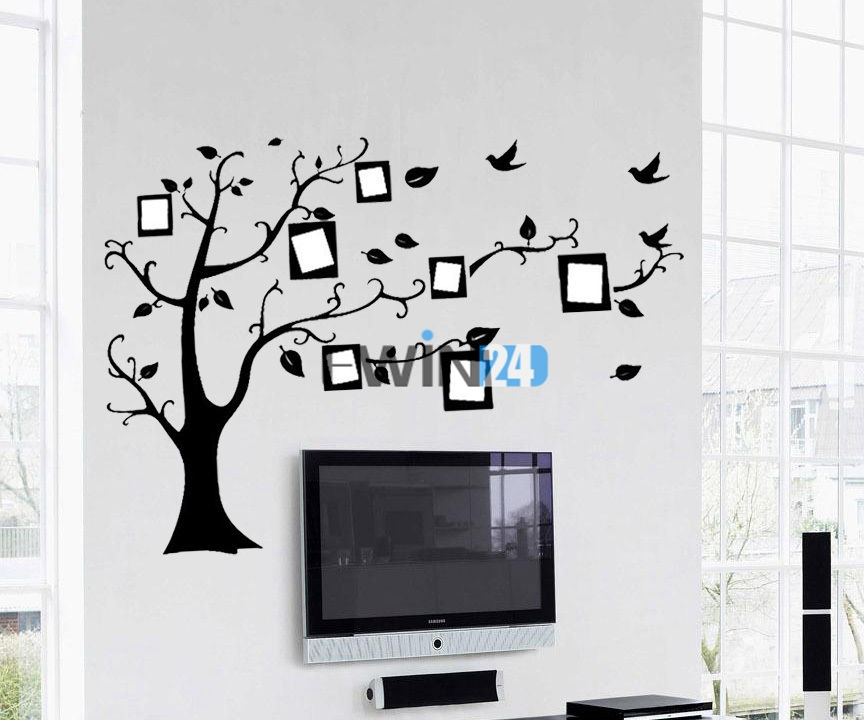 Photo Frame Family Tree Decal Wall Decals Wall Decor: 1 X Wall Sticker Decal Photo Frame Family Tree Memorry