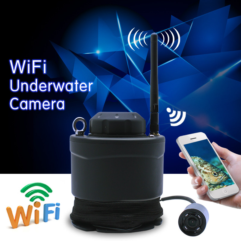Lucky brand fish finder portable wifi underwater camera for Wifi fish finder