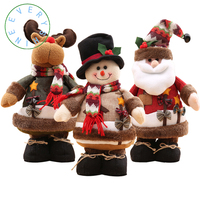 Christmas Home Decoration For Santa Claus Snowman Reindeer Standing Dolls Christmas Tree Ornament Xmas Party Kids