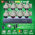 CCTV Onvif H.264 8CH NVR Kit 2MP HD 1080P Pan Tilt WIFI Network IP Camera Wireless Security System 3TB HDD
