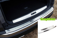 2PCS Set Stainless Car Inner And Outer Bumper Protector Step Panel Trunk Trim FOR PEUGEOT 3008