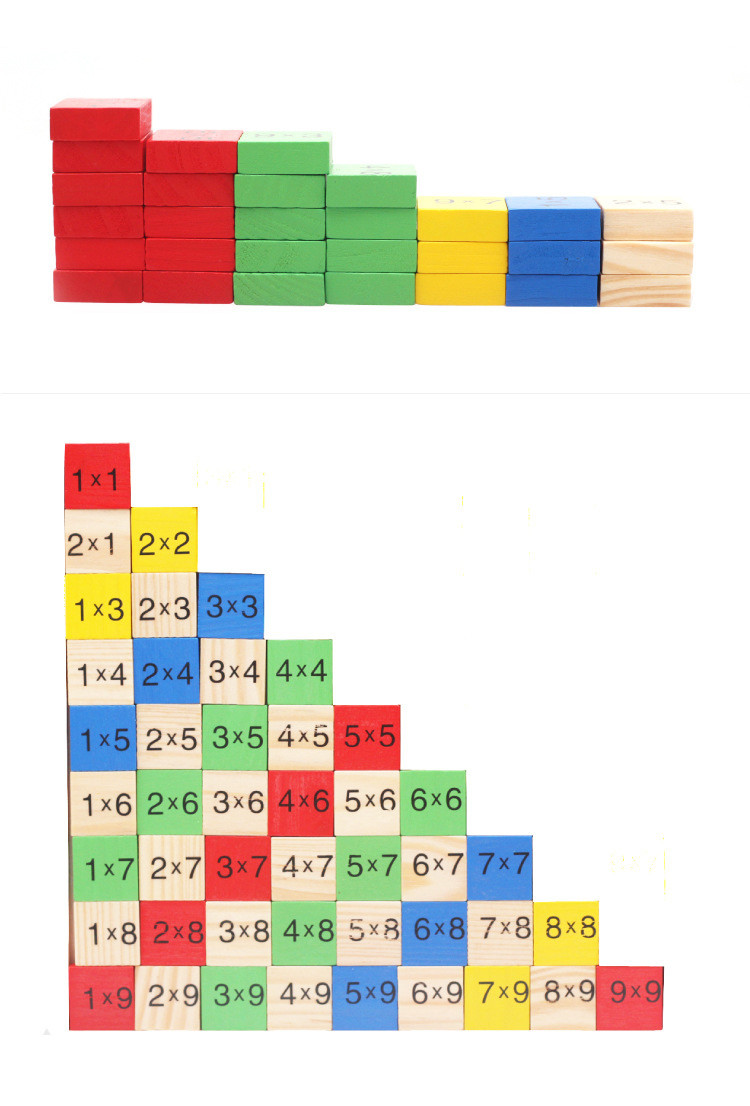 Montessori Wood Multiplication Table Wooden Children Educational Toys 99  Arithmetic Math Toy Figure Building Blocks Christmas Gift (3)