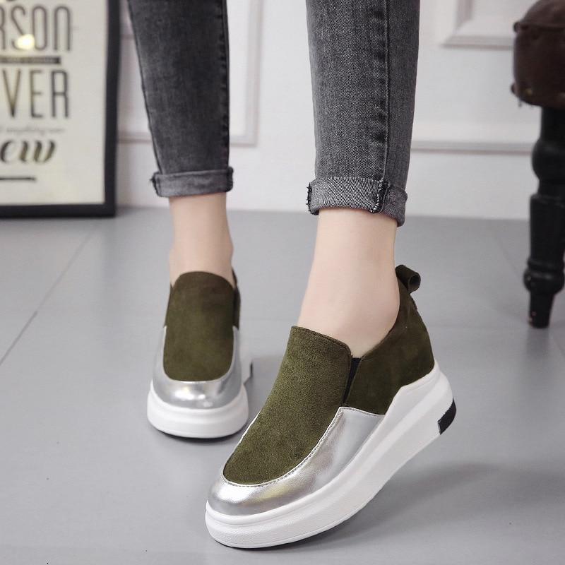 Couleur vert Paresseux Chaussures De Mode Fond 2018 Nouvelle Noir Version Un Casual Pied blanc Coréenne Chaussures Correspondant Plat Femmes wYT4xxtqF