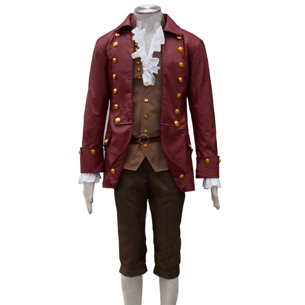 Halloween Carnival Cosplay Apparel Movie Beauty and the Beast Cosplay Gaston Costumes