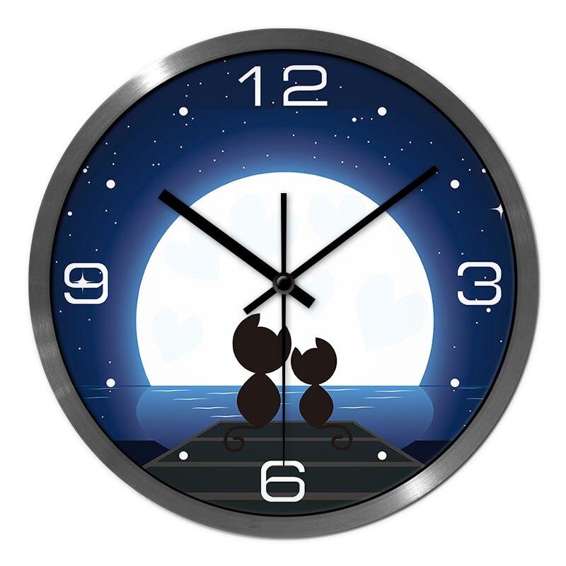 Horloge murale Love Cat temps précis faible consommation d'énergie horloge murale silencieuse bonne qualité pour les enfants/étudiant horloge murale de chambre