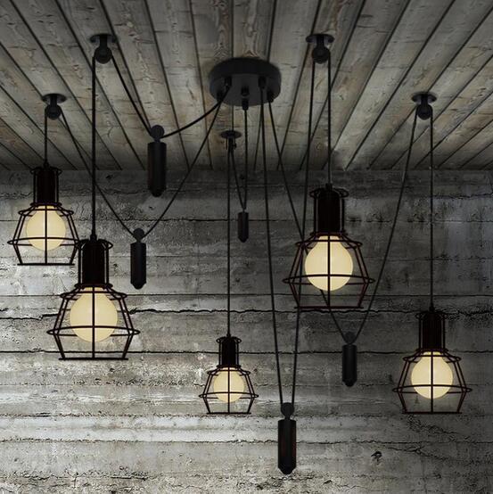 5 головок паук подвесной светильник светодиодный свет паук современный подвесной светильник LED предупреждение потолочный светильник подве