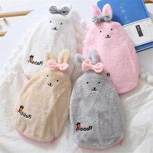 Мультяшный кролик взрывозащищенный плюшевый тканевый чехол для грелки, теплая сумка для воды, съемный моющийся чехол для грелки